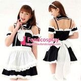 French Lockable Sissy Maid Dress Cotton  Uniform Tailor-Made[G1617]