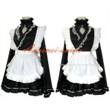 French Sexy Sissy Maid Dress Satin Dress Uniform Cosplay Costume Tailor-Made[CK1151]