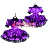 French Lockable Sissy Maid Satin Dress Uniform Cosplay Costume Tailor-Made[G1795]