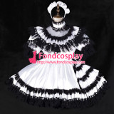 French Sissy Maid Satin Dress Lockable Uniform Cosplay Costume Tailor-Made[G2328]