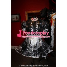 French Clear Pvc Sissy Maid Lockable Dress Tpu Uniform Tailor-Made[G1504]