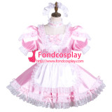 French Sissy Maid Satin Dress Lockable Uniform Cosplay Costume Tailor-Made[G3739]