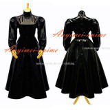 French Sissy Maid Gothic Lolita Punk Black Pvc Dress Cosplay Costume Tailor-Made[G282]