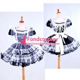 French Lockable Sissy Maid Satin-Organza Dress Uniform Costume Tailor-Made[G1589]