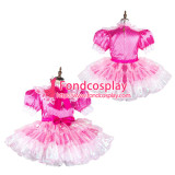 French Sissy Maid Satin Dress Lockable Uniform Cosplay Costume Tailor-Made[G2126]