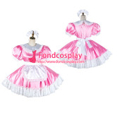 French Sissy Maid Satin Dress Lockable Uniform Cosplay Costume Tailor-Made[G2033]