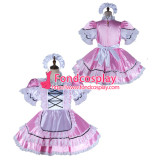 French Sissy Maid Satin Dress Lockable Uniform Cosplay Costume Tailor-Made[G2159]