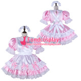 French Sissy Maid Satin Dress Lockable Uniform Cosplay Costume Tailor-Made[G2338]