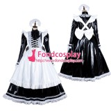 French Lockable Sissy Maid Pvc Vinyl Long Dress Uniform Cosplay Costume Tailor-Made[G1807]