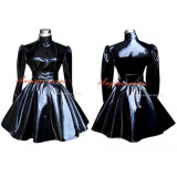 French Sissy Maid Gothic Lolita Punk Black Pvc Dress Cosplay Costume Tailor-Made[G278]