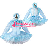 French Sissy Maid Satin Dress Lockable Uniform Cosplay Costume Tailor-Made[G2208]