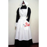French Sexy Sissy Maid Cotton Lockable Dress Uniform Cosplay Costume Tailor-Made[CK762]