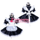 French Lockable Sissy Maid Satin Dress Uniform Cosplay Costume Tailor-Made[G1756]