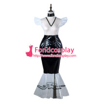 French Sissy Maid Clear Pvc Dress Lockable Uniform Cosplay Costume Tailor-Made[G2247]