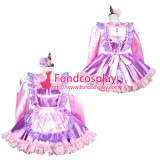 French Sissy Maid Satin Dress Lockable Uniform Cosplay Costume Tailor-Made[G3811]