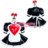 French Sissy Maid Pvc Dress Lockable Uniform Cosplay Costume Tailor-Made[G3750]