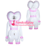 French lockable heavy PVC jumpsuits adult sissy baby Unisex cosplay costume Tailor-made[G3901]