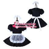 French Sissy Maid Cotton Dress Lockable Uniform Cosplay Costume Tailor-Made[G2277]