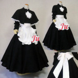 French Sexy Sissy Maid Cotton Long Dress Uniform Cosplay Costume Tailor-Made[CK758]