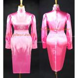 French Sissy Maid Gothic Lolita Pink Satin Dress Cosplay Costume Custom-Made[G502]
