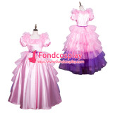 French Sissy Maid Satin Dress Lockable Uniform Cosplay Costume Tailor-Made[G3802]