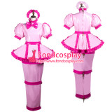 French Sissy Maid Pvc Dress Lockable Uniform Cosplay Costume Tailor-Made[G3740]