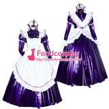 French Lockable Sissy Maid Pvc Long Dress Uniform Cosplay Costume Tailor-Made[G1750]