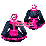 French Sissy Maid Satin Dress Lockable Uniform Cosplay Costume Tailor-Made[G3798]