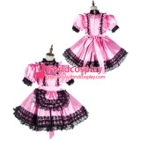 French Sissy Maid Satin Dress Lockable Uniform Cosplay Costume Tailor-Made[G2158]