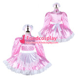 French Sissy Maid Satin Dress Lockable Uniform Cosplay Costume Tailor-Made[G2265]