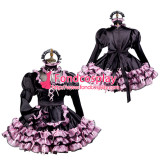 French Sissy Maid Satin Dress Lockable Uniform Cosplay Costume Tailor-Made[G3729]