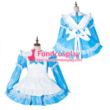 French Sissy Maid Pvc Dress Lockable Uniform Cosplay Costume Tailor-Made[G2164]