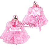 French Lockable Sissy Maid Satin-Organza Dress Uniform Cosplay Costume Tailor-Made[G2014]