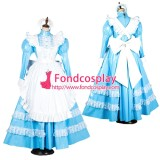 French Lockable Sissy Maid Pvc Vinyl Long Dress Uniform Cosplay Costume Tailor-Made[G1805]