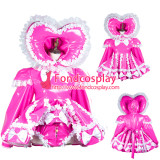 French Sissy Maid Pvc Dress Lockable Uniform Cosplay Costume Tailor-Made[G3728]