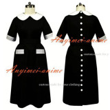 French Sissy Maid The Cotton Smock Uniform Apron Dress Cosplay Costume Tailor-Made[G443]