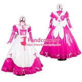 French Lockable Sissy Maid Pvc Vinyl Long Dress Uniform Cosplay Costume Tailor-Made[G1784]