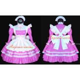 French Sexy Sissy Maid Dress Pvc Dress Pink Lockable Uniform Cosplay Costume Custom-Made[G528]