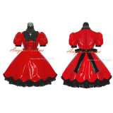French Sissy Maid Gothic Lolita Punk Red Pvc Dress Cosplay Costume Tailor-Made[G382]