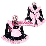 French Lockable Sissy Maid Pvc Vinyl Dress Uniform Cosplay Costume Tailor-Made[G1797]
