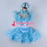 French Lockable Sissy Maid Satin-Organza Dress Outfit Tailor-Made[G2021]