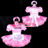 French Sissy Maid Satin Dress Lockable Uniform Cosplay Costume Tailor-Made[G2319]