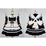 French Black-White Sexy Sissy Maid Pvc Dress Lockable Uniform Cosplay Costume Custom-Made[G616]