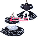 French Sissy Maid Satin Dress Lockable Uniform Cosplay Costume Tailor-Made[G2123]