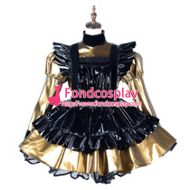 French Sissy Maid Pvc Dress Lockable Uniform Cosplay Costume Tailor-Made[G2174]