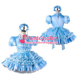 French Sissy Maid Satin Dress Lockable Uniform Cosplay Costume Tailor-Made[G2206]