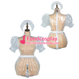 French Sissy Maid Clear Pvc Romper Lockable Uniform Cosplay Costume Tailor-Made[G2426]