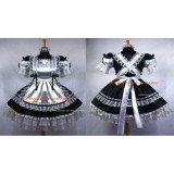 French Sexy Sissy Maid Satin Dress Lockable Uniform Cosplay Costume Custom-Made[G664]