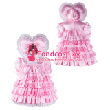 French Adult Sissy Baby Maid Satin Dress Lockable Tailor-Made[G2343]