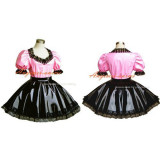 French Sissy Maid Dress Gothic Lolita Punk Pvc Cosplay Costume Tailor-Made[G291]